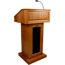 Victoria Wired 150 Watt Sound Lectern - Cherry Finish - 26.375