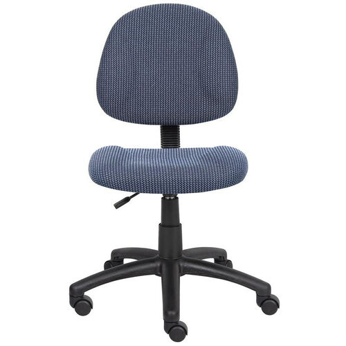 Our Deluxe Thick Padded Armless Task Chair with Lumbar Support and Nylon Base - Blue is on sale now.