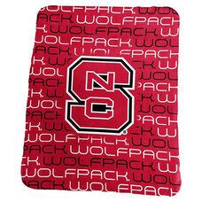 North Carolina State University Team Logo Classic Fleece Throw