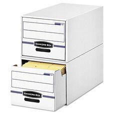 Bankers Box® STOR/DRAWER File Drawer Storage Box - Letter - White/Blue - 6/Carton