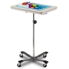 Mobile Phlebotomy Stand with ClintonClean™ Plastic Top and One Removable Drop In Storage Bin