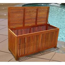 Malibu Outdoor or Indoor Wood Storage Box