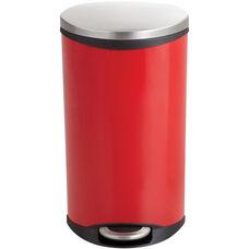 Ellipse 7.5 Gallon Step on Medical Trash Receptacle - Red