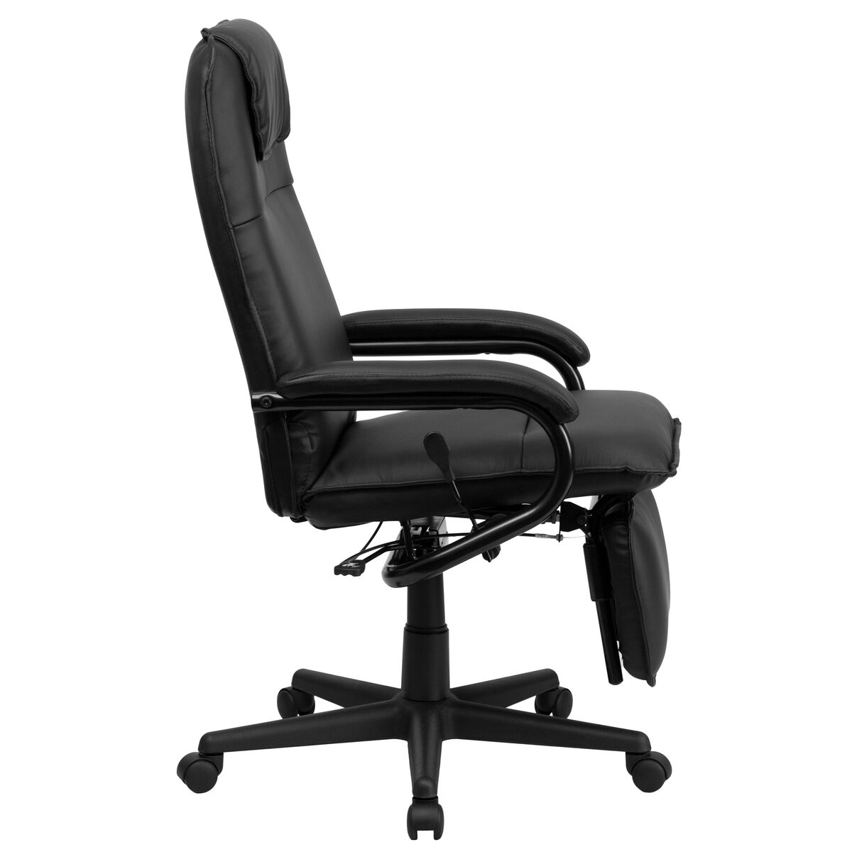 Flash Furniture High Back Black Leather Executive Reclining Swivel Chair With Arms Bt 70172 Bk Gg Bizchair Com