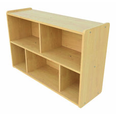 1000 Series 30.5''H Preschool Size Sectional Shelf Storage with 5 Compartments - Unassembled
