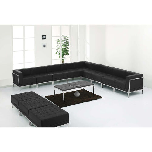 HERCULES Imagination Series LeatherSoft Sectional & Ottoman Set, 12 Pieces