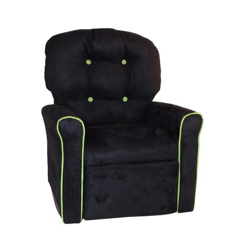 Our Kids 4 Button Microsuede Rocking Recliner with Kiwi Trim is on sale now.