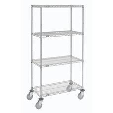 Wire Shelf Stem Caster Truck W/Polyurethane Wheels W/Brakes - 18