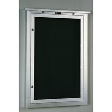 548 Series Outdoor Directory Cabinet with 1 Locking Tempered Glass Door - 24