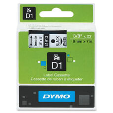 Dymo Black on Clear D1 Label Tape - 23 ft Length - Rectangle - Polyester - Clear
