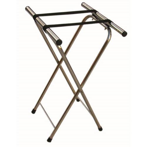 Chrome Folding Tray Stand with Nylon Straps