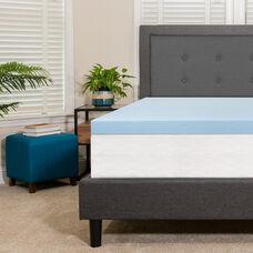 Capri Comfortable Sleep 3 inch Cool Gel Memory Foam Mattress Topper