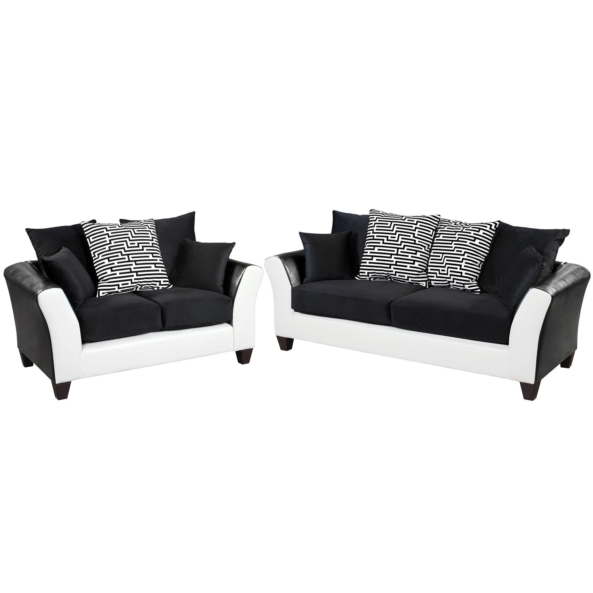 Flash Furniture Riverstone Implosion Black Velvet Living Room Set Rs 4173 02ls Set Gg