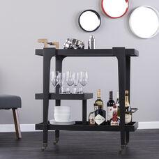 Zhori Midcentury Modern Bar Cart - Black