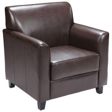 HERCULES Diplomat Series Brown LeatherSoft Chair