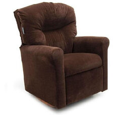 Kids Contemporary Micro-Suede Rocker Recliner with Tufted Back - Chocolate