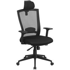 High Back Black Mesh Executive Swivel Ergonomic Office Chair with Back Angle Adjustment and Adjustable Arms
