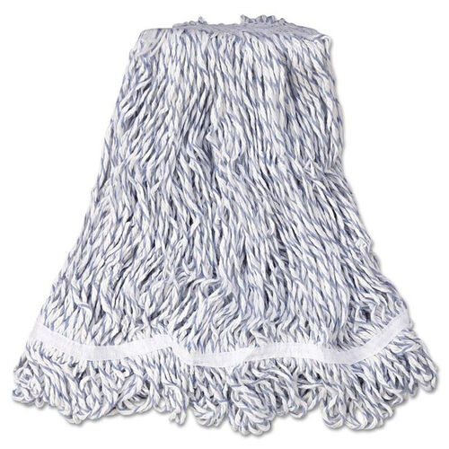 Our Rubbermaid® Commercial Web Foot Finish Mop - White - Med - Cotton/Synthetic - 1