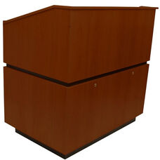 Coventry Non-Sound Multimedia Lectern - Mahogany Finish - 30