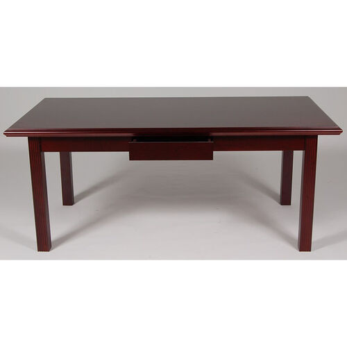36 x 72 Wood Veneer Writing Desk in Mahogany Finish