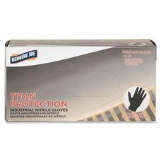 Genuine Joe Titan Nitrile Powder Free Industrial Gloves - Disposable - Large