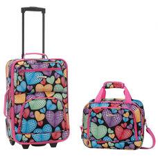 Rockland 2 Pc. Luggage Set - Heart
