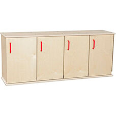 Contender Four-Section Stackable Wooden Lockers with Doors - Assembled - 49