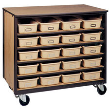 5-Shelf Tote Tray Mobile Storage