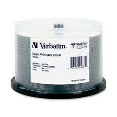 Verbatim Inkjet Printable Medidisc Cd-Rs - Pack Of 50