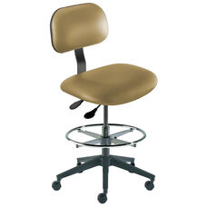 Quick Ship Bridgeport Series Chair with Adjustable Task Controls and Reinforced Composite Base - High Seat Height