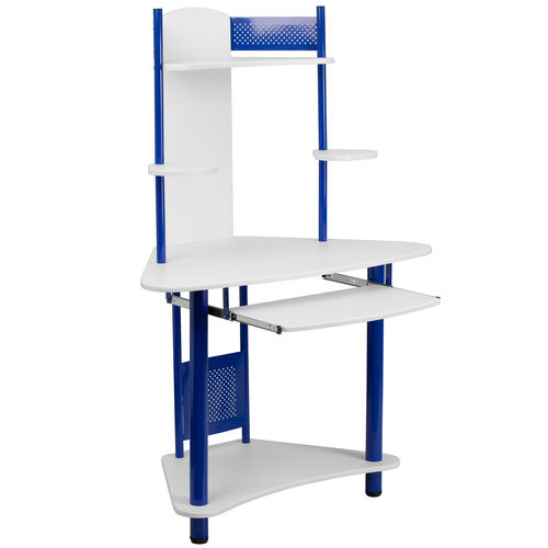 Our Blue Corner Computer Desk with Hutch is on sale now.