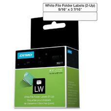 Dymo White 2-Up File Folder Labels - Pack Of 260