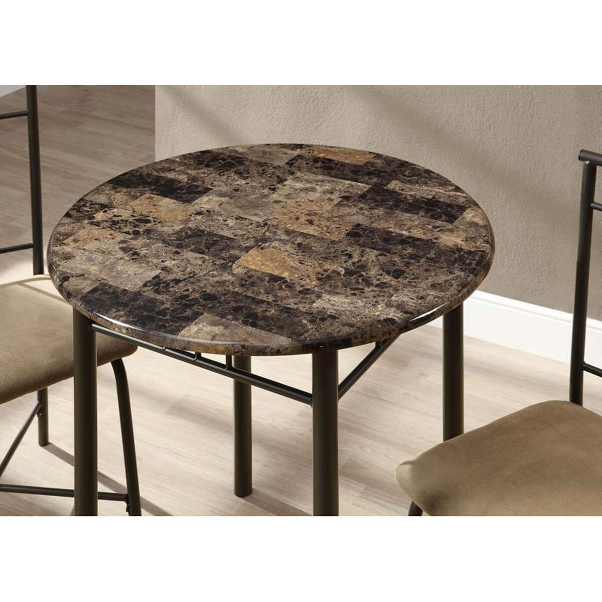 Our Metal 3 Piece Bistro Set With Faux Marble Top Charcoal Is On Now