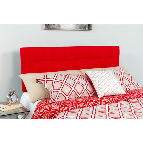 Our Bedford Tufted Upholstered Twin Size Headboard in Red Fabric is on sale now.