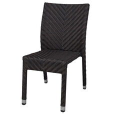 Miami Duraweave Stackable Armless Dining Side Chair - Espresso