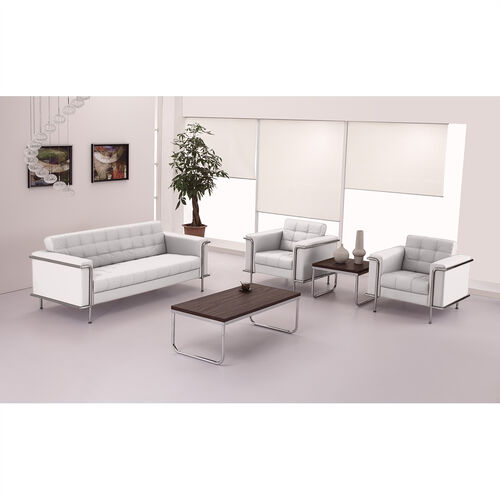 Our HERCULES Lesley Series Contemporary Melrose White LeatherSoft Chair with Encasing Frame is on sale now.