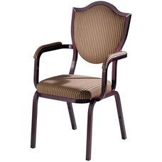 Burgess Como Premium Comfort Banquet Stacking Arm Chair with Sheild Back