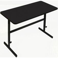 Height Adjustable Rectangular Laminate Top Standing Work Station - Black Granite - 24