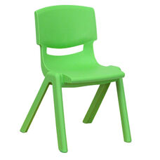 Green Plastic Stackable School Chair with 12
