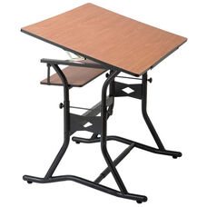 CraftMaster III Drafting, Drawing, and Art Table with Woodgrain