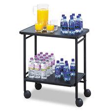 Safco® Folding Office/Beverage Cart - Two-Shelf - 25w x 15d x 30h - Black