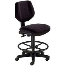 Black Height Adjustable Comfort Classic Deluxe Drafting Task Chair with Dual Wheel Casters