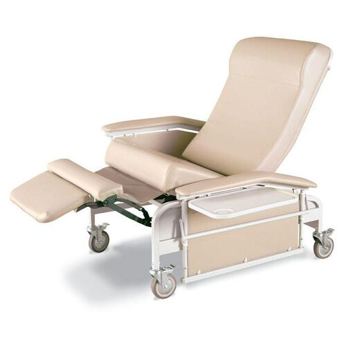XL Drop Arm Care Cliner Steel Casters