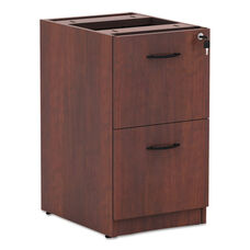 Alera® Valencia File/File Drawer Full Pedestal - 15 5/8 x 20 1/2 x 28 1/2 - Medium Cherry