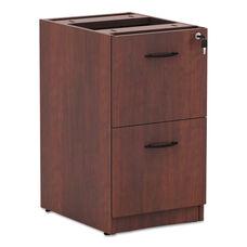 Alera® Valencia File/File Drawer Full Pedestal - 15 5/8 x 20 1/2 x 28 1/2 - Medium Cherry