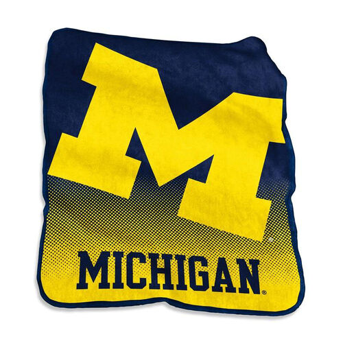Our University of Michigan Team Logo Raschel Throw is on sale now.
