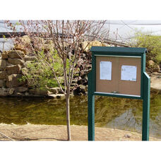 Medium One Side Recycled Plastic Message Center with 2 Posts
