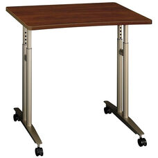 Series C Adjustable Height Mobile Table with Locking Casters - Hansen Cherry