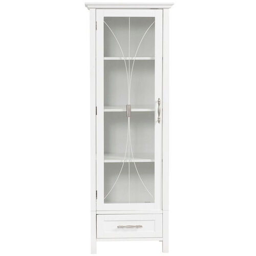 Our Delaney Linen Cabinet with One Door and One Bottom Drawer - White is on sale now.