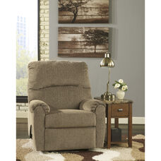 Signature Design by Ashley Pranit Wall Hugger Recliner in Cork Chenille